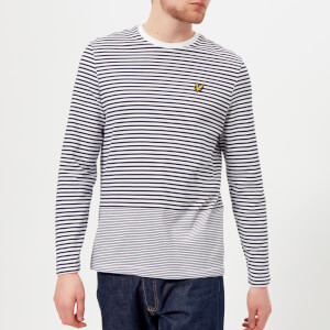 Lyle & Scott Men's Long Sleeve Stripe T-Shirt - Navy