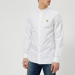 Lyle & Scott Men's Grandad Collar Shirt - White