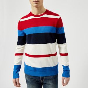 Tommy Jeans Men's Multi Stripe Sweatshirt - Racing Red/Multi