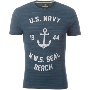 T-Shirt Homme Seal Beach Threadbare - Bleu Denim
