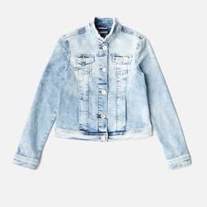 Tommy Hilfiger Girls' Denim Trucker Jacket - Blue