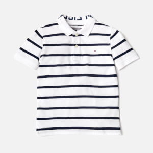 Tommy Hilfiger Boys' Yarn Dye Stripe Polo Shirt - White