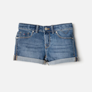 Tommy Hilfiger Girls' Nora Stretch Denim Shorts - Clifton Mid Blue