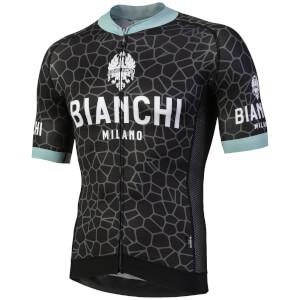 Bianchi Venteno Short Sleeve Jersey - Black/Celeste