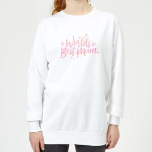 Worlds Best Mum Women's Sweatshirt - White