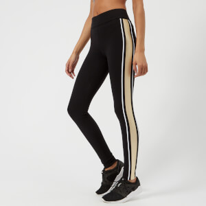 NO KA'OI Women's Kaua Kala Leggings - Black/White/Gold