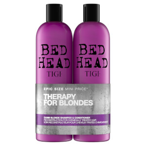 TIGI Bed Head Dumb Blonde Repair Shampoo & Reconstructor for Coloured Hair 2 x 750 ml