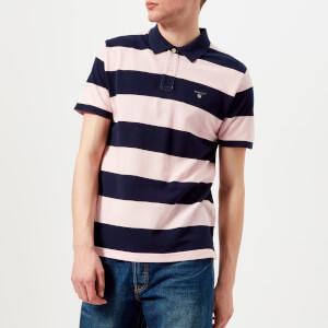 GANT Men's Barstripe Pique Polo Shirt - California Pink