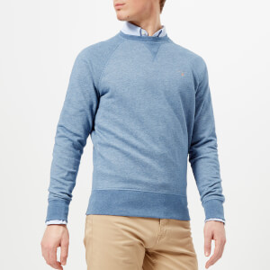 GANT Men's Original Crew Neck Sweatshirt - Denim Blue Melange