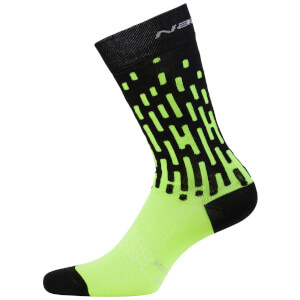 Nalini Fulmine Socks - Black/Fluro