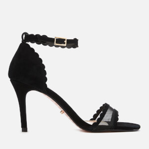 Dune Women's Maam Suede Barely There Heeled Sandals - Black