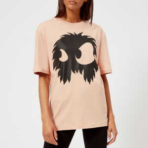 McQ Alexander McQueen Women's Boyfriend Chester Monster T-Shirt - Pale Peach