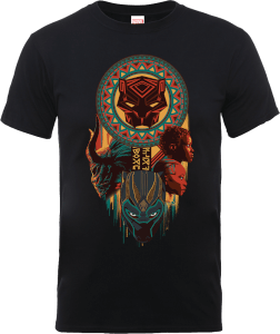 T-Shirt Black Panther Totem - Nero