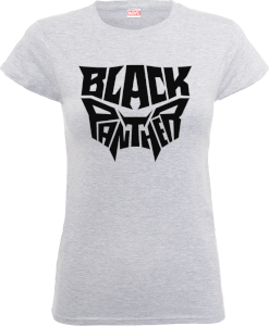 T-Shirt Black Panther Emblem - Grigio - Donna