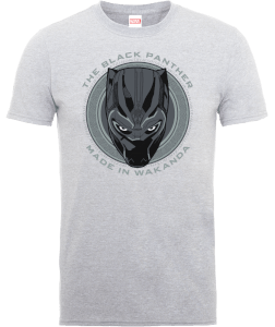 Black Panther Made in Wakanda T-Shirt - Grey