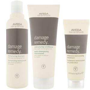 Aveda Damage Remedy Restructuring Shampoo & Conditioner Duo med Restructuring Treatment provförpackning