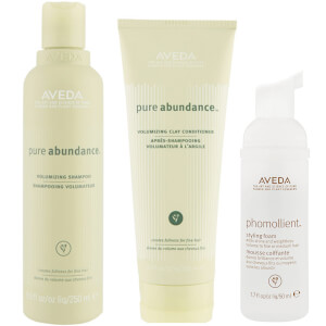 Aveda Pure Abundance Volumising Shampoo and Conditioner Duo med Styling Foam Sample