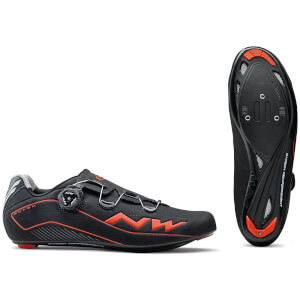 Northwave Flash Cycling Shoes - Black/Lobster