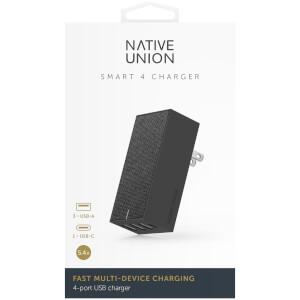 Native Union Smart 4 Port Charge USB Fabric Charger - Slate: Image 7