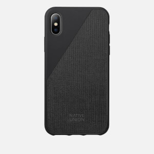 Native Union Clic Canvas - iPhone X Case - Black