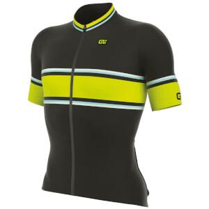 Alé R-EV1 Speed Fondo Jersey - Black/Yellow
