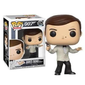 James Bond Roger Moore in White Tuxedo Pop! Vinyl Figure