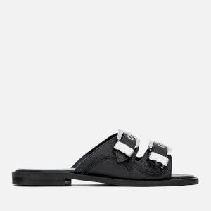 McQ Alexander McQueen Women's Moon Buckle Slide Sandals - Black