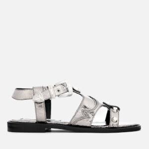 McQ Alexander McQueen Women's Moon Flat Sandals - Silver