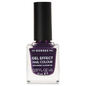 KORRES Gel-Effect Sweet Almond Nail Colour - 75 Violet Garden 11ml