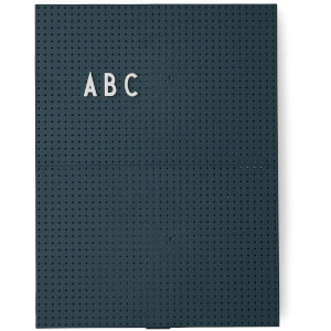 Design Letters A4 Message Board - Dark Green