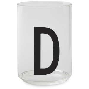 Design Letters Drinking Glass - D