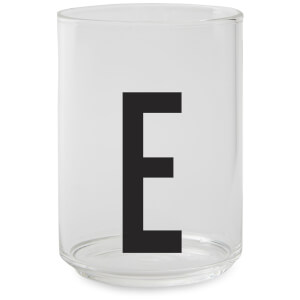 Design Letters Drinking Glass - E