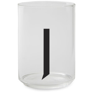 Design Letters Drinking Glass - J
