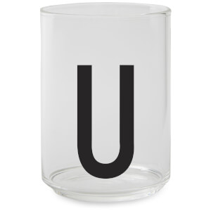 Design Letters Drinking Glass - U