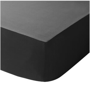 Catherine Lansfield Easy Iron Percale Fitted Sheet - Black