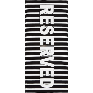Catherine Lansfield Reserved Beach Towel - Black