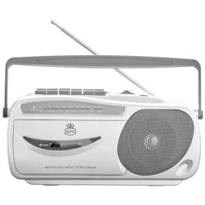 GPO 9401 AM/FM Radio Cassette Recorder - Silver