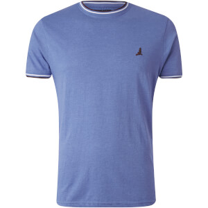 Brave Soul Men's Federer Tipped T-Shirt - Blue Marl