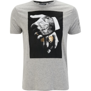 Brave Soul Men's Viggo T-Shirt - Light Grey Marl
