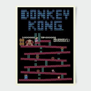 Nintendo Donkey Kong Retro Poster