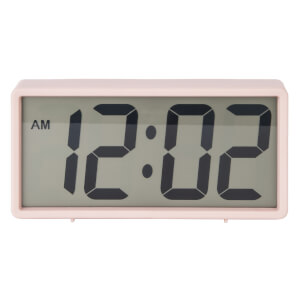 Karlsson Coy Rubberized Alarm Clock - Pink
