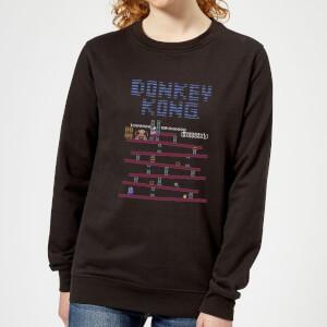 Felpa Nintendo Donkey Kong Retro - Nero - Donna