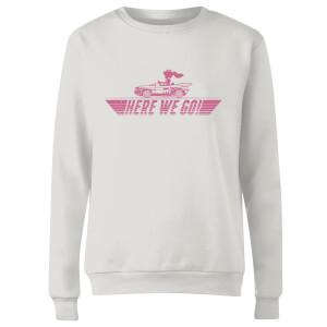 Mario Kart Here We Go Peach Women's Sweatshirt - White