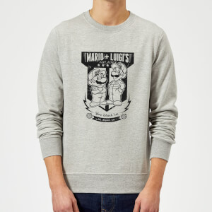 Sweat Homme Mario Kart Fix-It Team - Nintendo - Gris