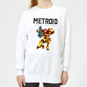 Sweat Femme Super Metroid (Nintendo) Samus Returns - Blanc