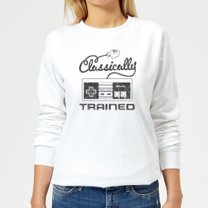 Sweat Femme Rétro NES Classically Trained - Nintendo - Blanc