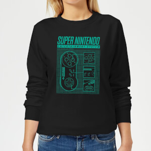 Super Nintendo Entertainment System Damen Pullover - Schwarz