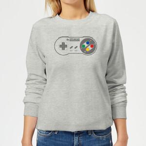 SNES Controller Pad Damen Pullover - Grau