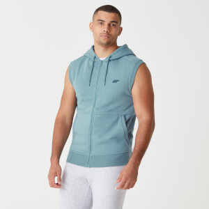 Myprotein Tru-Fit Sleeveless Hoodie 2.0 - Airforce Blue