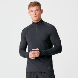 Myprotein Boost Therma 1/4 Zip - Black
